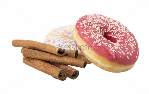 Пончик, корица