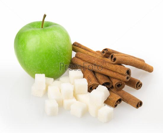Фотография на тему Яблоко, сахар, корица