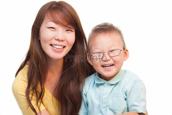 Фотография на тему Счастливая мать с сыном