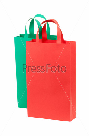 Красный и зеленый пакеты