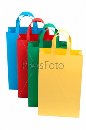 Фотография на тему Бумажные цветные пакеты