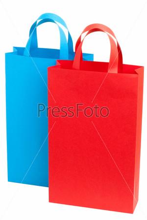 Фотография на тему Голубой и красный пакет