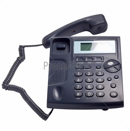 Современные синий телефон, изолировано