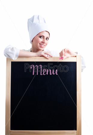 Повар с меню