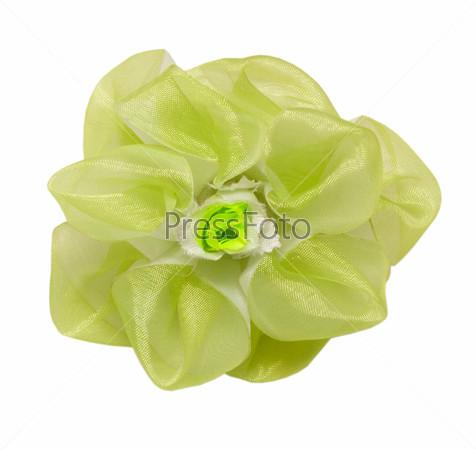 Заколка волос в форме зеленого цветка, изолированная с путем отсечения