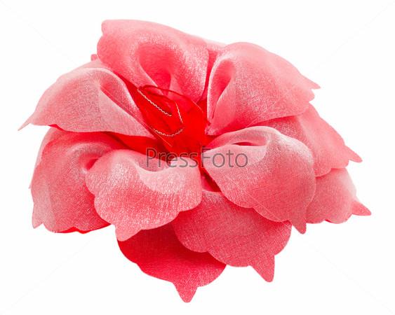 Красная заколка в форме цветка, изолированная с путем отсечения