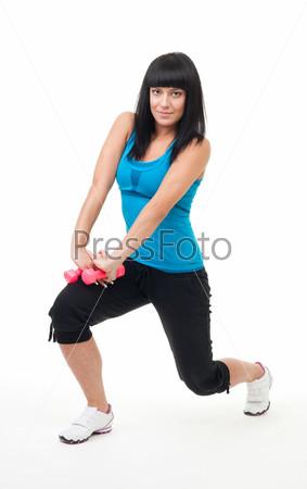 Женщина на тренировке