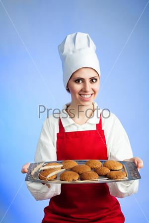 Свежее овсяное печенье от шеф-повара