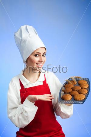 Шеф-повар предлагает вкусное печенье