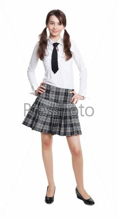 Счастливая школьница