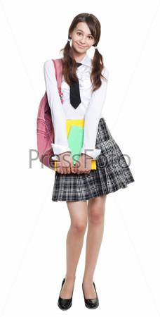 Фотография на тему Застенчивая девочка-подросток