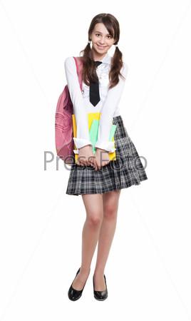 Застенчивая школьница