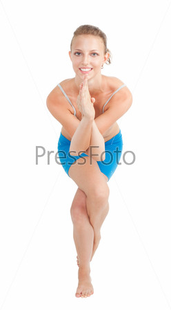 Женщина в позе йога