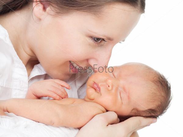 Фотография на тему Счастливая молодая мать
