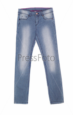 Фотография на тему Полосатые джинсы