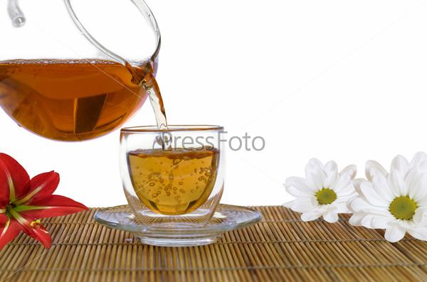 Ароматизированный чай и цветы. Ароматерапия