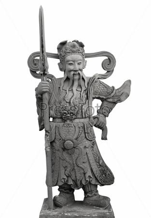 Каменная статуя тайского солдата