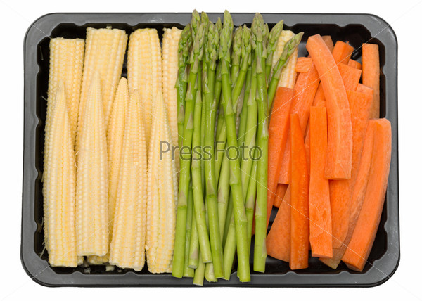 Фотография на тему Свежие овощи в пластиковом контейнере