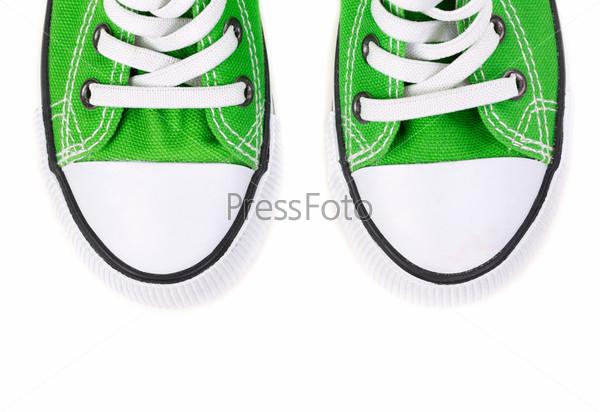 Носки зеленых кроссовок