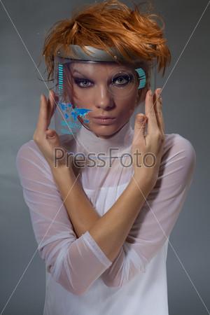 Фотография на тему Красивая женщина с навигацией
