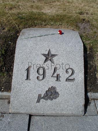 Братская могила на Пискаревском мемориальном кладбище