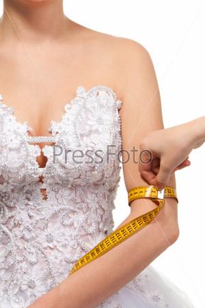 Измерение женской руки
