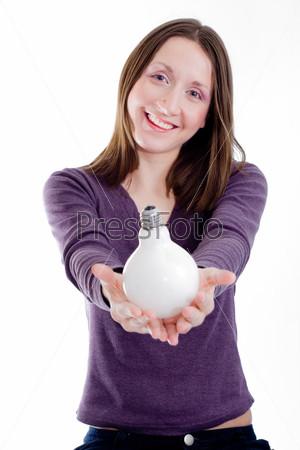 Женщина с лампой