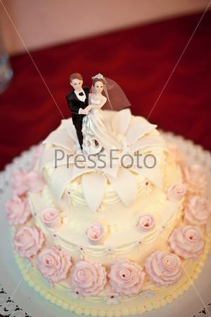 Фотография на тему Свадебный торт