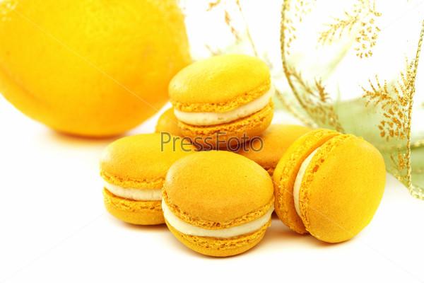 Миндальное печенье со сливками и лимоном