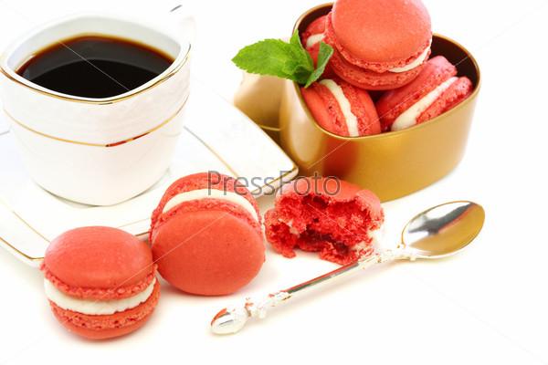 Фотография на тему Французские пирожные и кофе