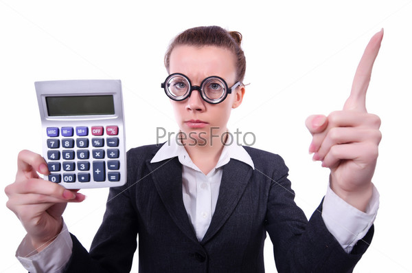 Ботаник-бухгалтер с калькулятором