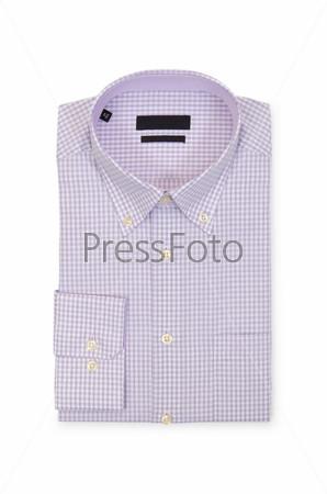 Фотография на тему Мужская рубашка на белом фоне