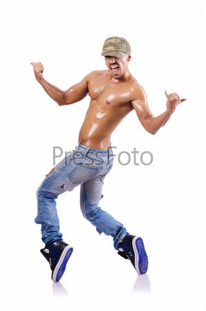 Танцовщик на белом фоне