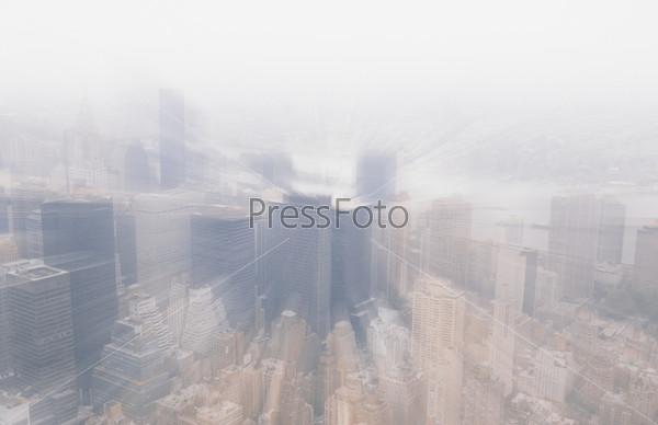 Фотография на тему Размытый вид на город