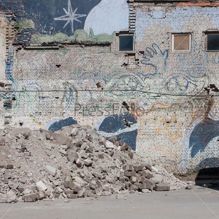 Фотография на тему Щебень на строительной площадке