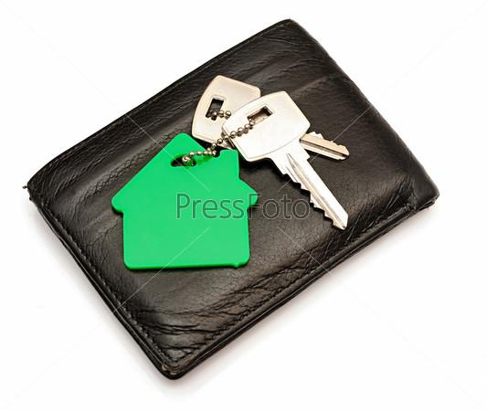 Фотография на тему Кожаный кошелек с ключами от дома
