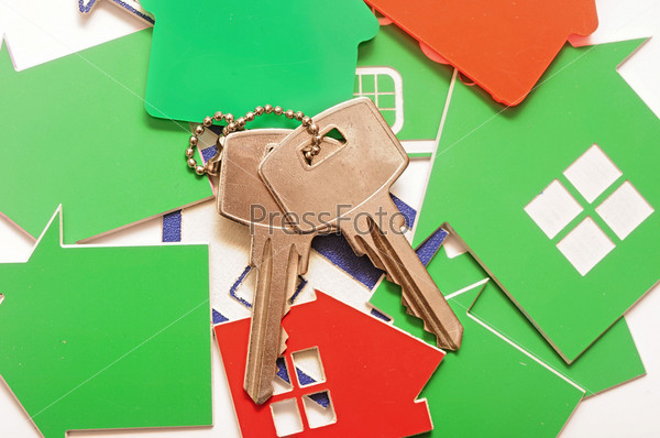 Ключ и знаки домов, концепция недвижимости