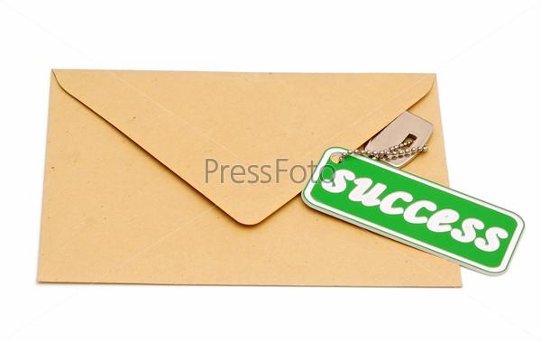 Ключ к успеху на коричневом конверте