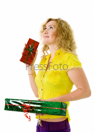 Женщина с подарками