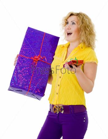 Фотография на тему Женщина с подарками