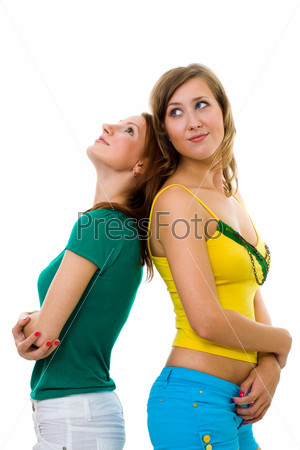 Две подруги спина к спине