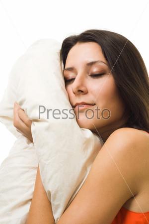 Фотография на тему Женщина в оранжевое платье