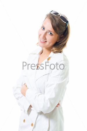 Женщина в белом халате