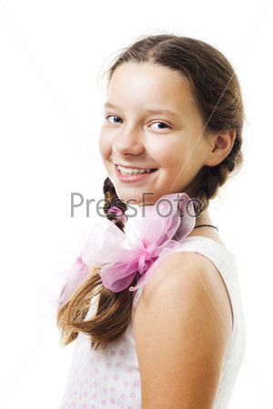 Счастливая девочка-подросток