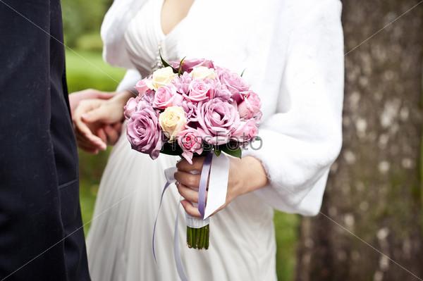 Фотография на тему Букет из роз для невесты