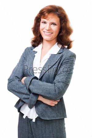 Фотография на тему Портрет позитивной деловой женщины