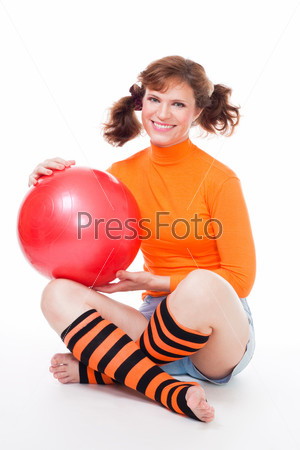 Фотография на тему Женщина с воздушным шариком
