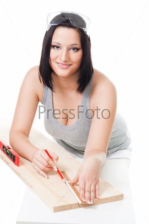 Фотография на тему Женщина,производящая замеры