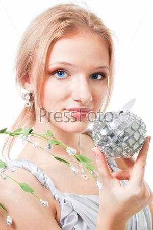 Фотография на тему Красивая женщина с яблоком