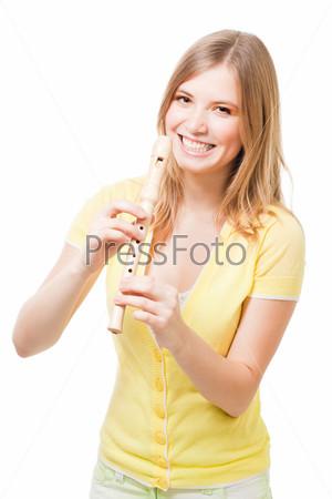 Фотография на тему Девушка с дудочкой